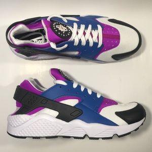 Nike huarache run blue jay / hyper violet mens 10